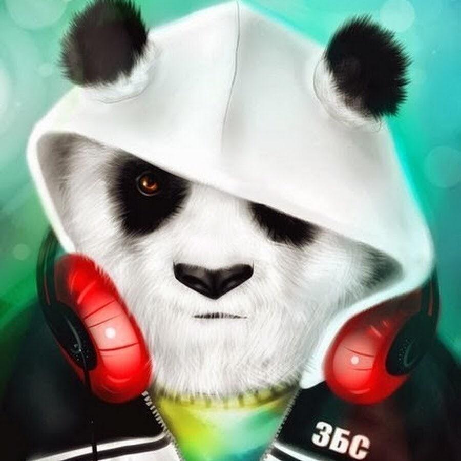 Картинка для авы на ютуб панда в очках