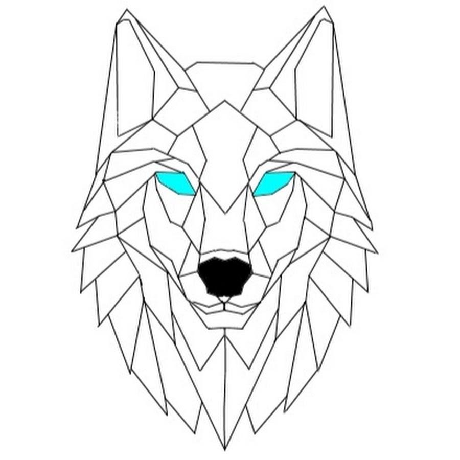 картинки волка из треугольников кривой две точки