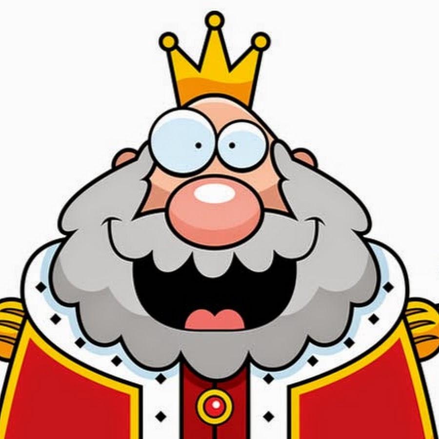 Рождественский, смешной рисунок короля