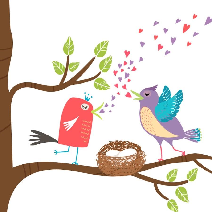 Дореволюционные, картинки для детей птичка на ветке
