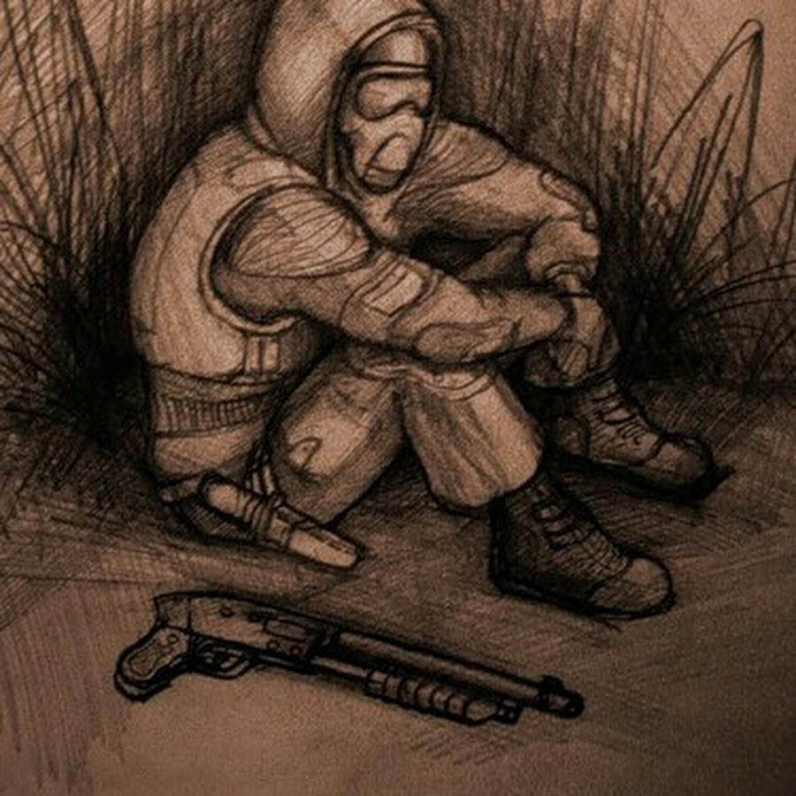 Войны, прикольные рисунки из сталкера