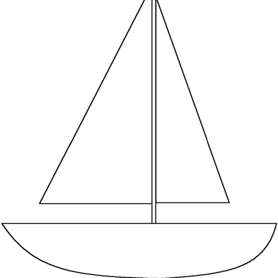 Днем рождения, шаблоны кораблика