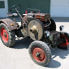 Old tractors and farm machines