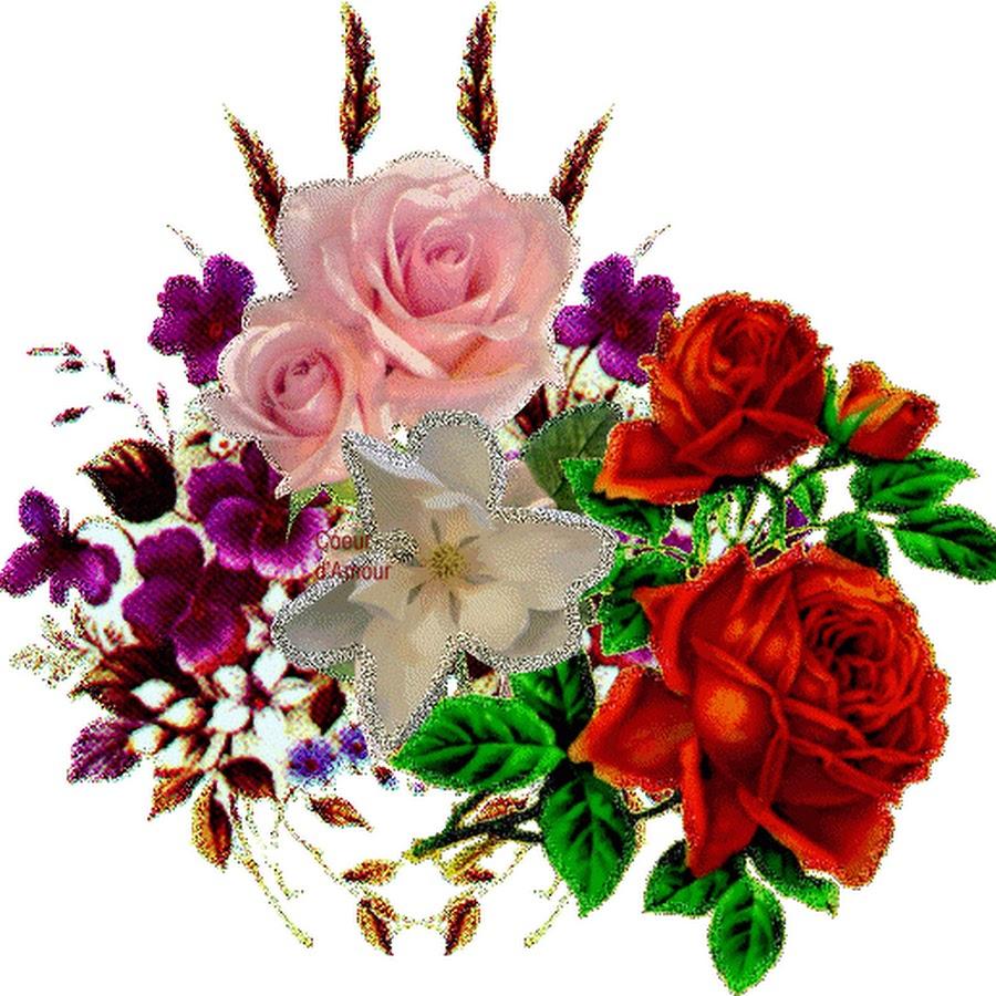 Открытки мерцающие цветы красивейшие, собака