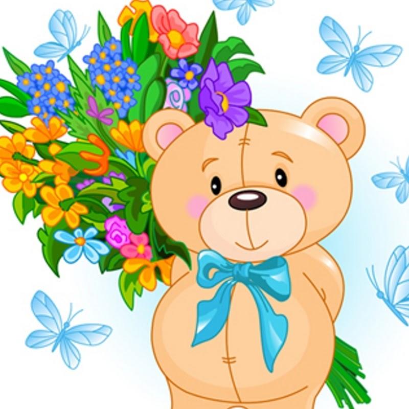 Бумажные открытки, детские открытки с цветами