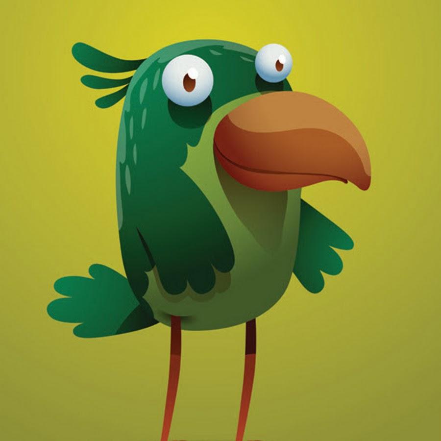Рисунок птицы смешной