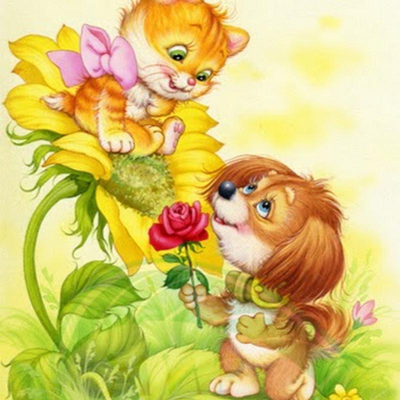 Детская открытка для друга рисунок, надписью днем рождения