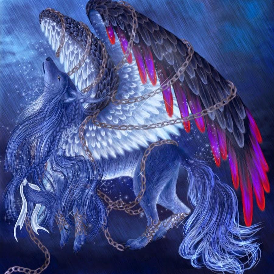 Картинки волками с крыльями
