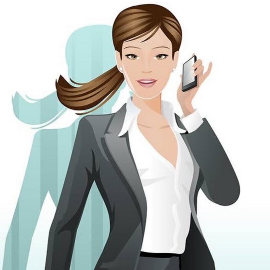 Открытка бизнесвумен