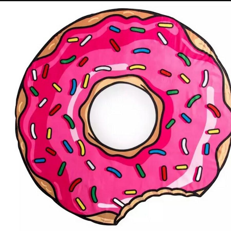 Картинка с пончиком, именины картинки