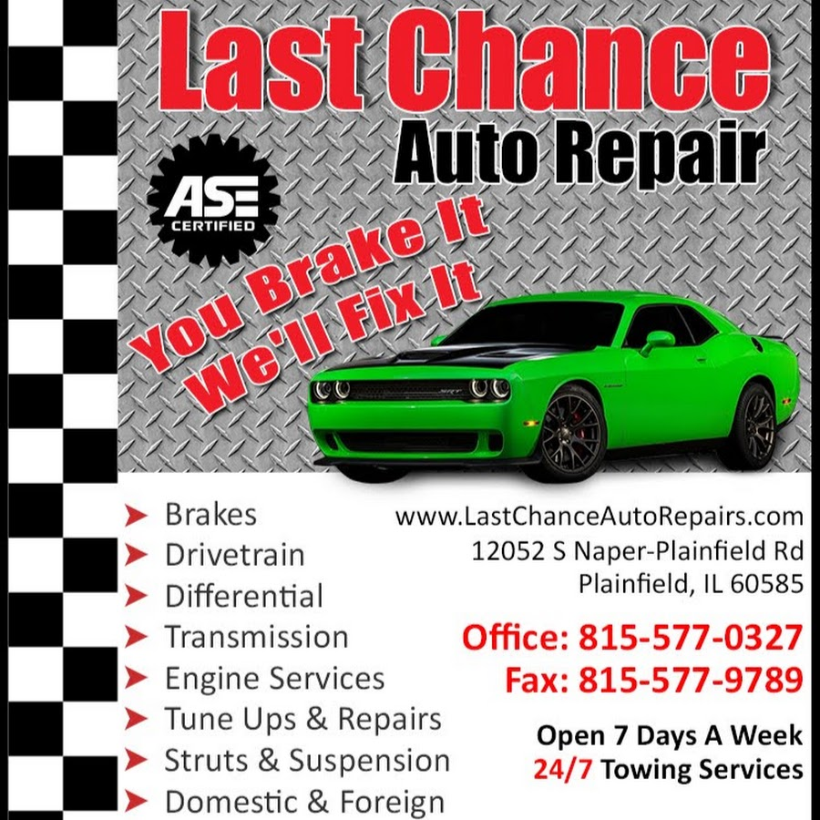 Rj Auto Repair >> Last Chance Auto Repair For Cars Trucks Youtube