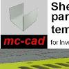 mc-cad Inventor sheet metal templates