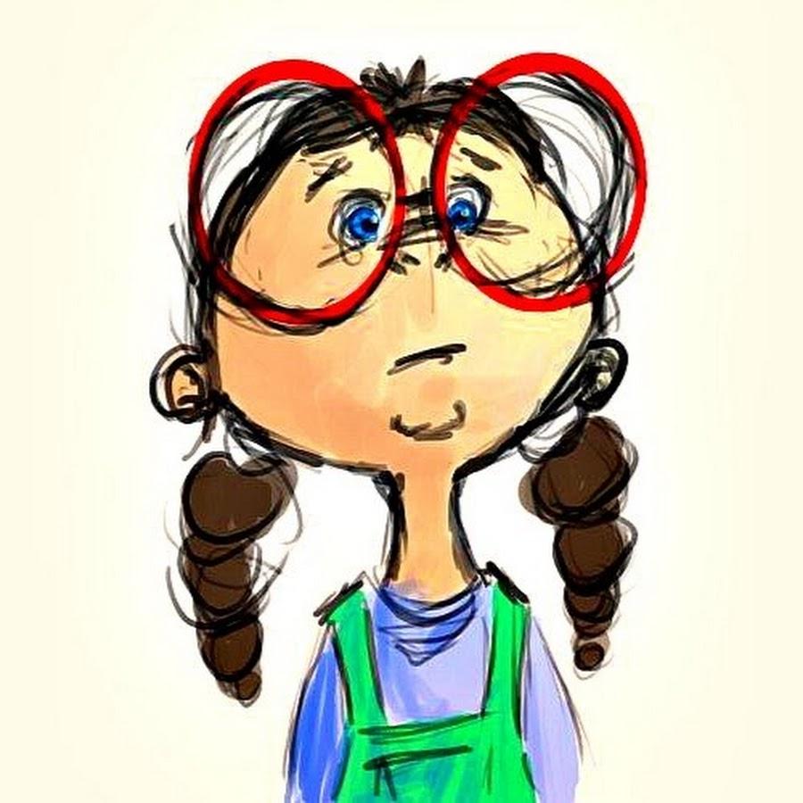 Картинка смешная девочка нарисованная в очках, днем рождения