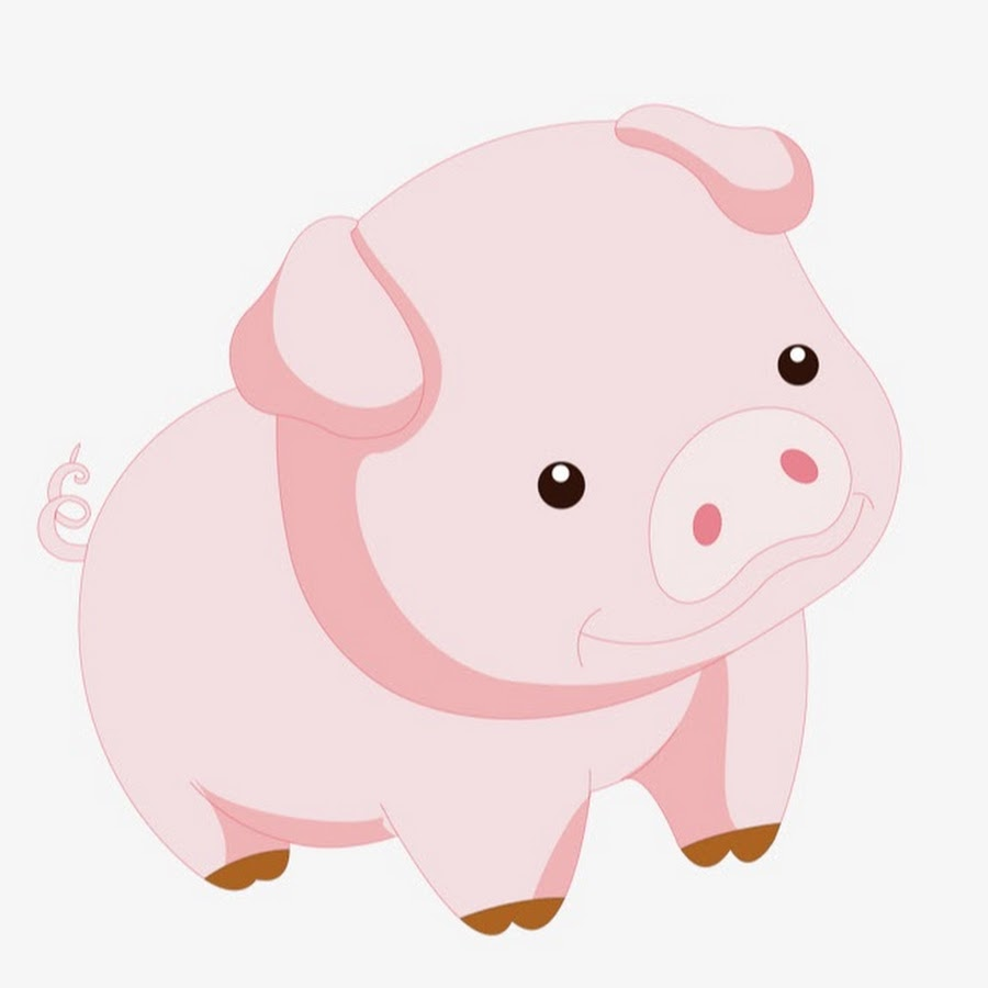 Свинья рисунок, подружек