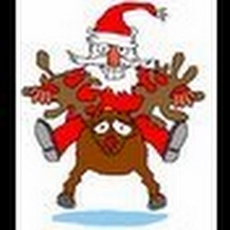 Санта флеш открытка