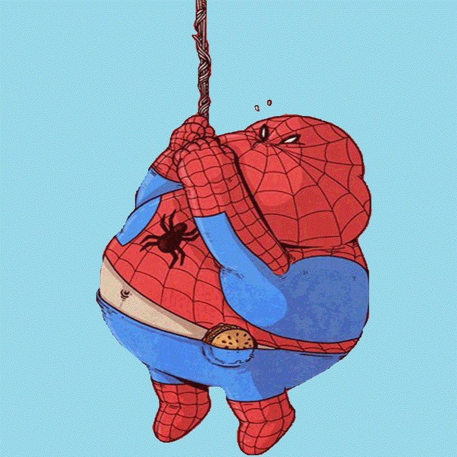 Рисунки карандашом, картинки смешного человека паука