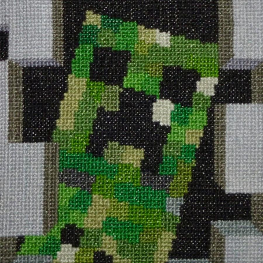 схема вышивания крестиком на тему майнкрафт #10