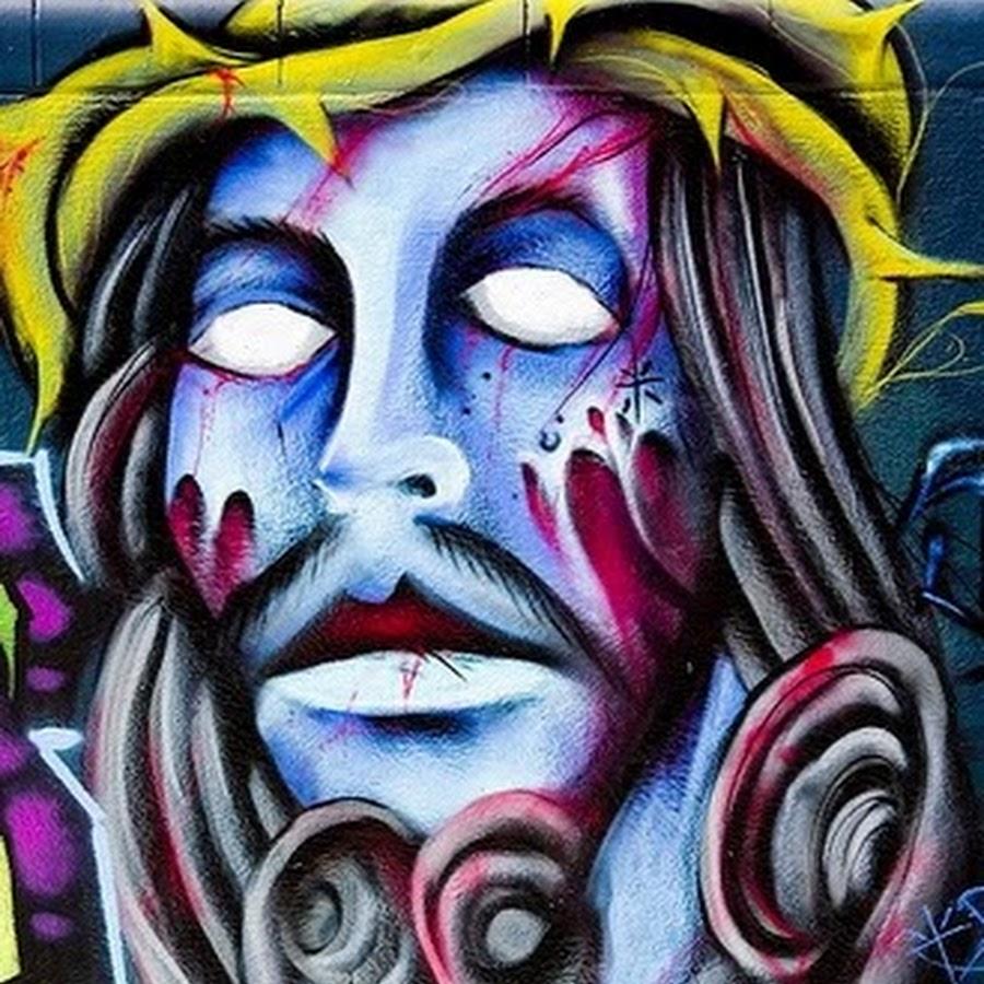 картинки граффити иисус лишь