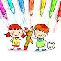 كيفية رسم ولون الاطفال