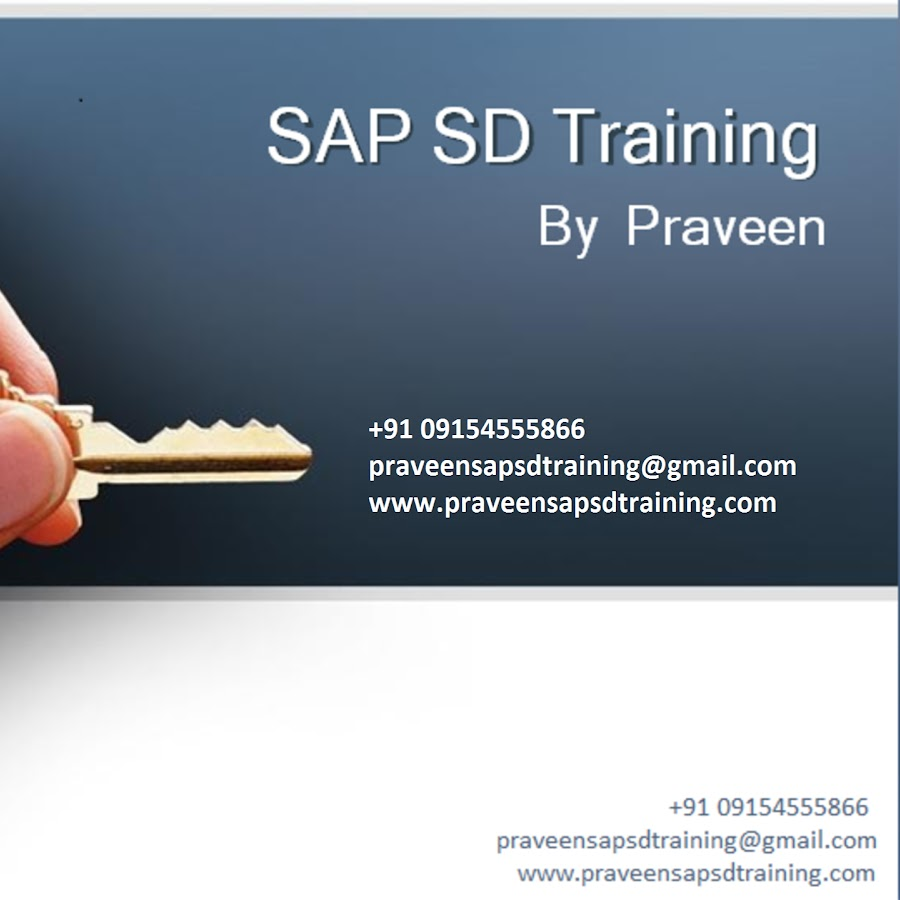 SAP SD Training By Praveen - YouTube