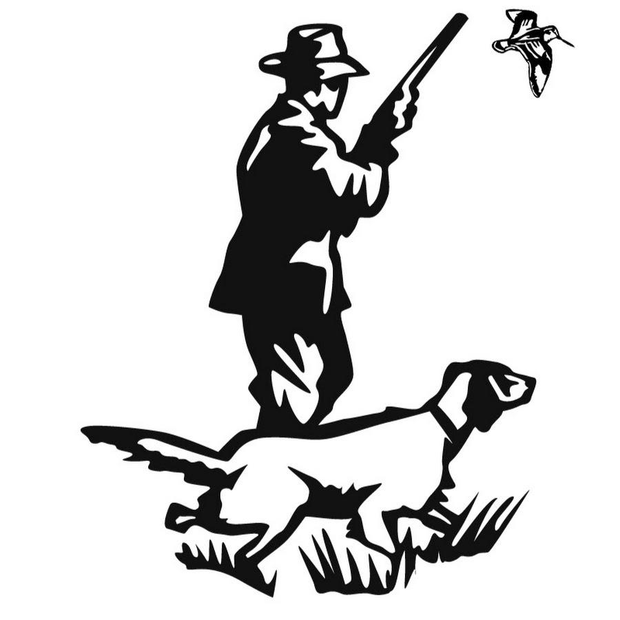 Картинки с охотником и собакой для рисунка шоколадом, открытка поздравлением