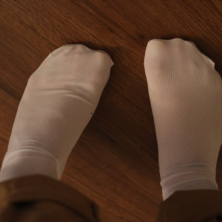 Trouser sock footjob video