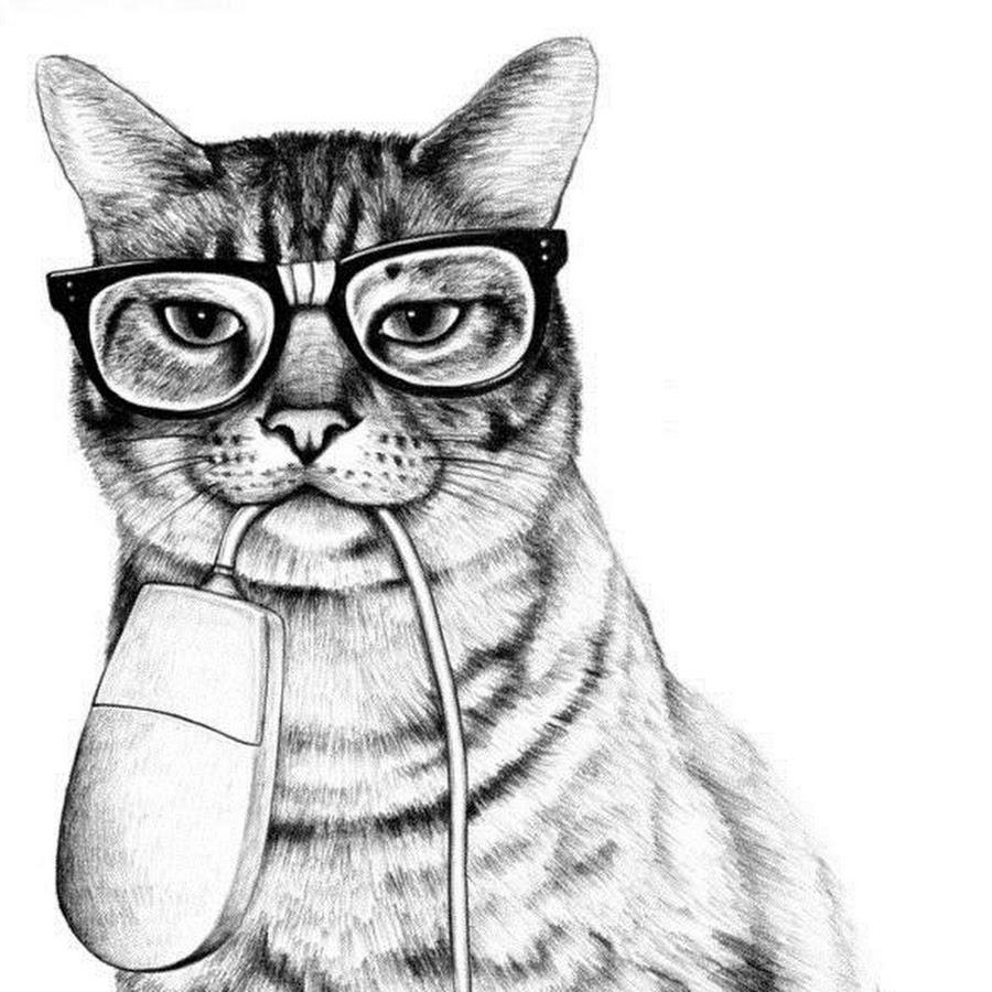 Папу, крутые рисунки карандашом коты