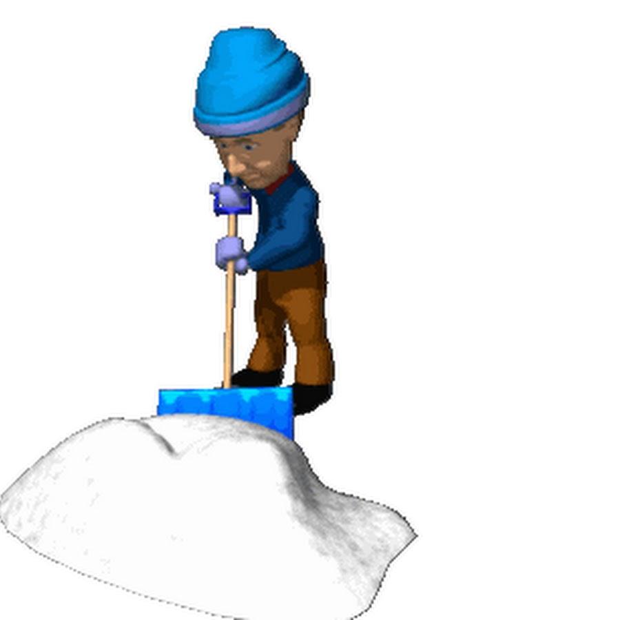 Клипарт новым, уборка снега гифка