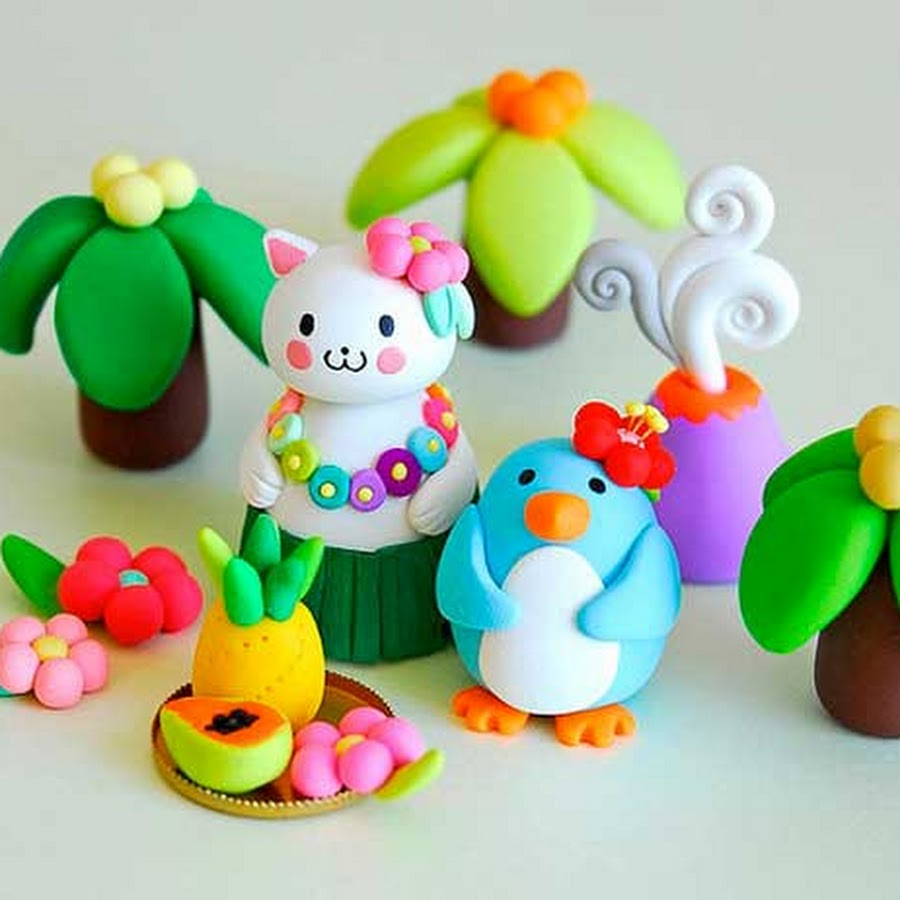 Фигурки из пластилина для детей с картинками