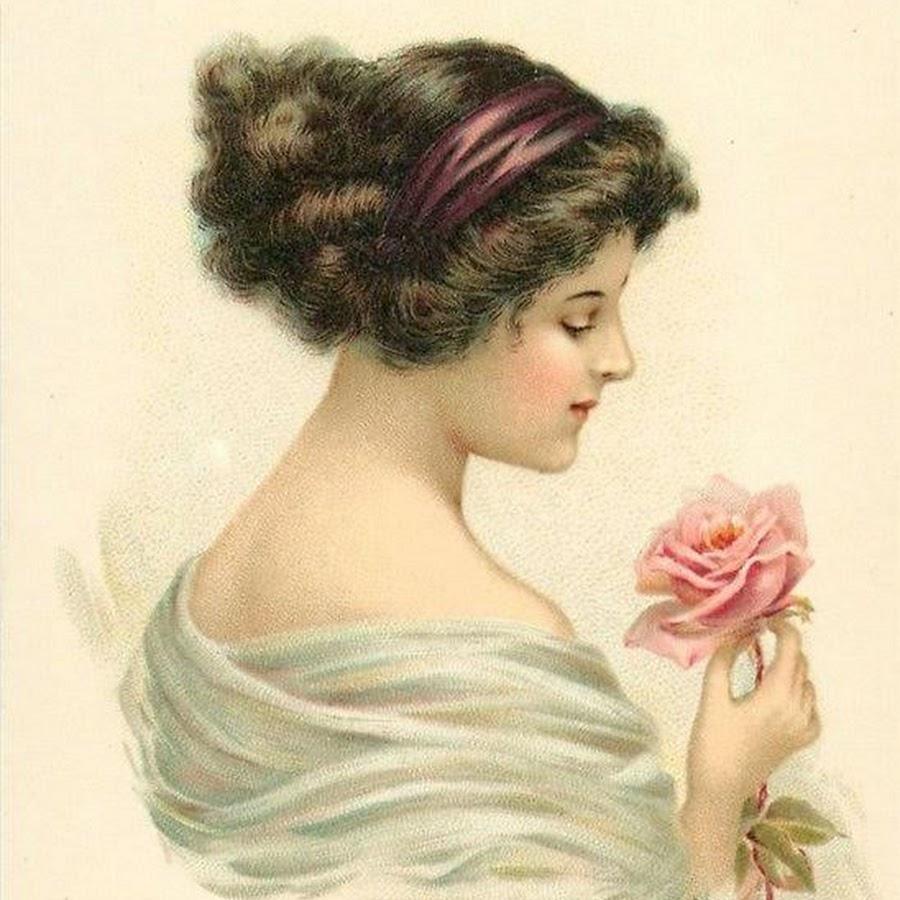 Девушки старинные открытки, открытки