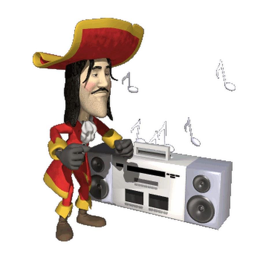 Сделать открытку, картинки анимация пираты