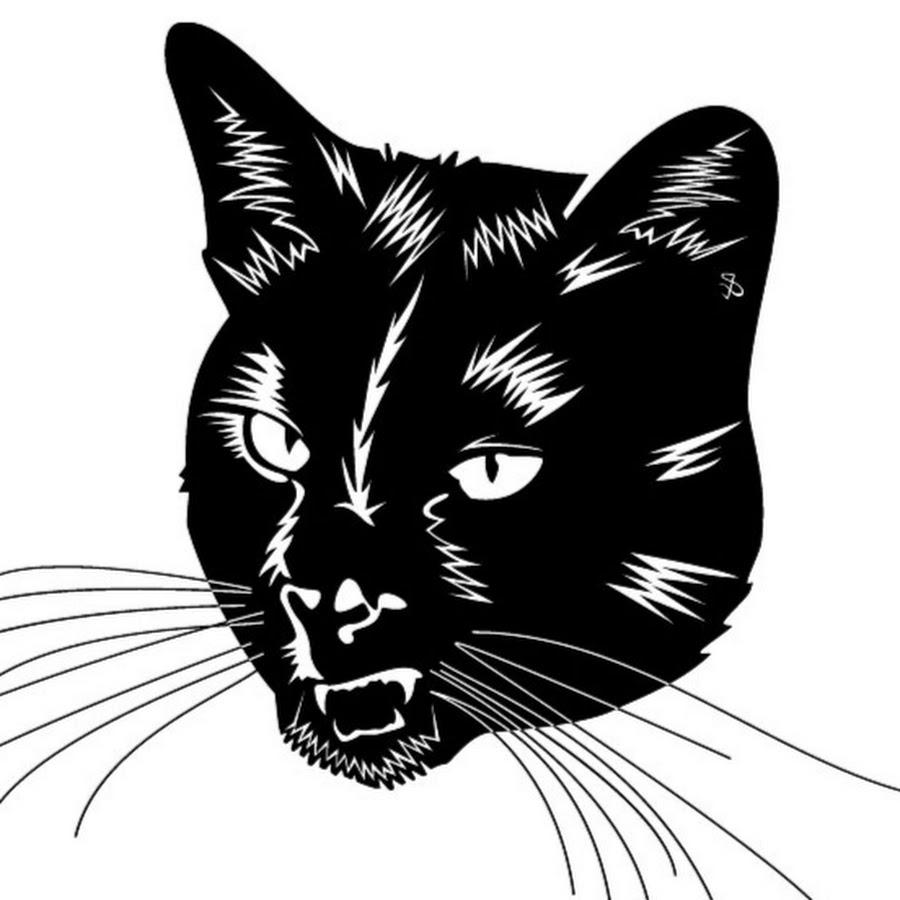 Кот картинки черно белые, днем рождения
