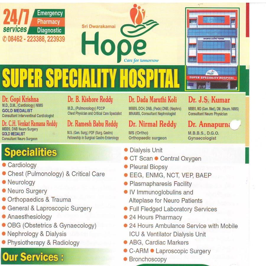 HOPE SUPER SPECIALITY HOSPITAL NIZAMABAD - YouTube