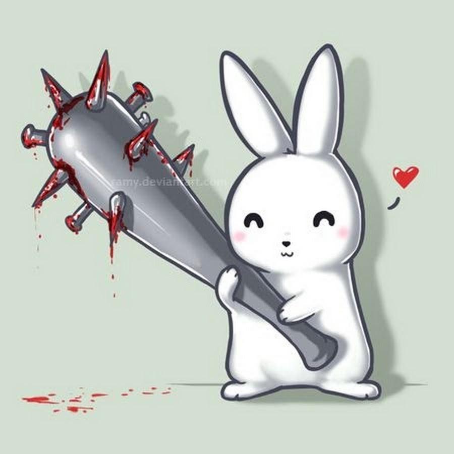 Прикольный рисунки кроликов