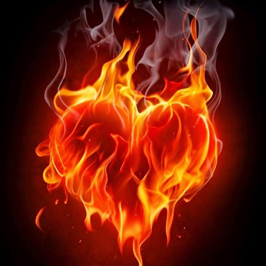 Открытки с горящим сердцем