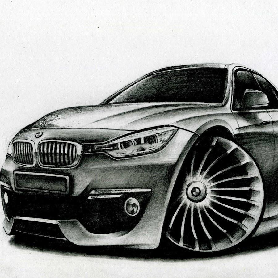 Прикольные автомобили рисунки, картинки