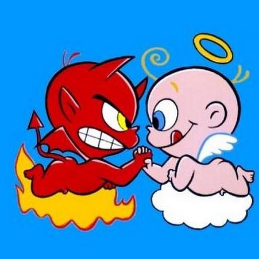 Нарисовать, прикольные картинки демона и ангела