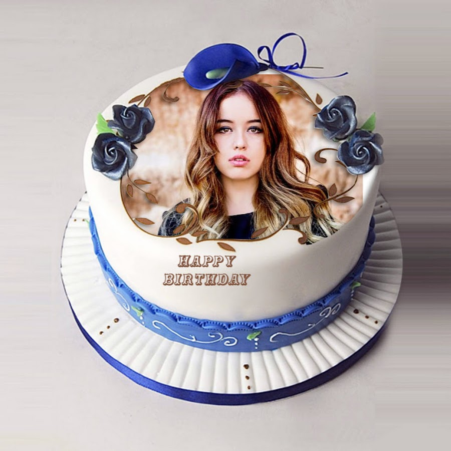 Birthday Cake With Picture.Happy Birthday Cake With Name And Photo Youtube