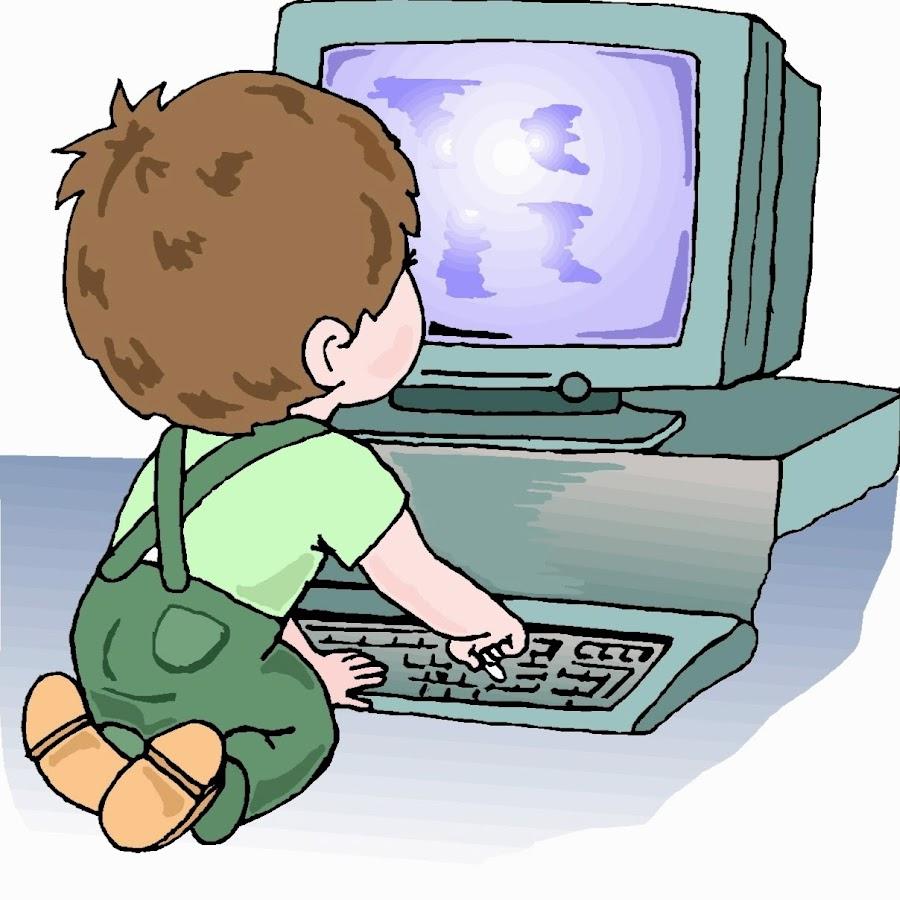 Картинки анимации ребенок за компьютером, прощенном