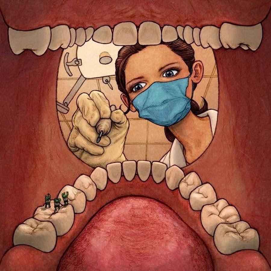 Картинки зубов приколы, 50-летием