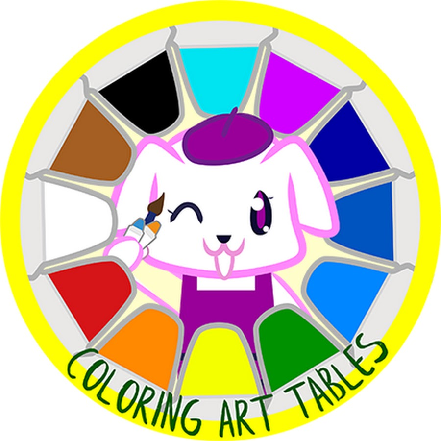 Coloring Art Tables - YouTube