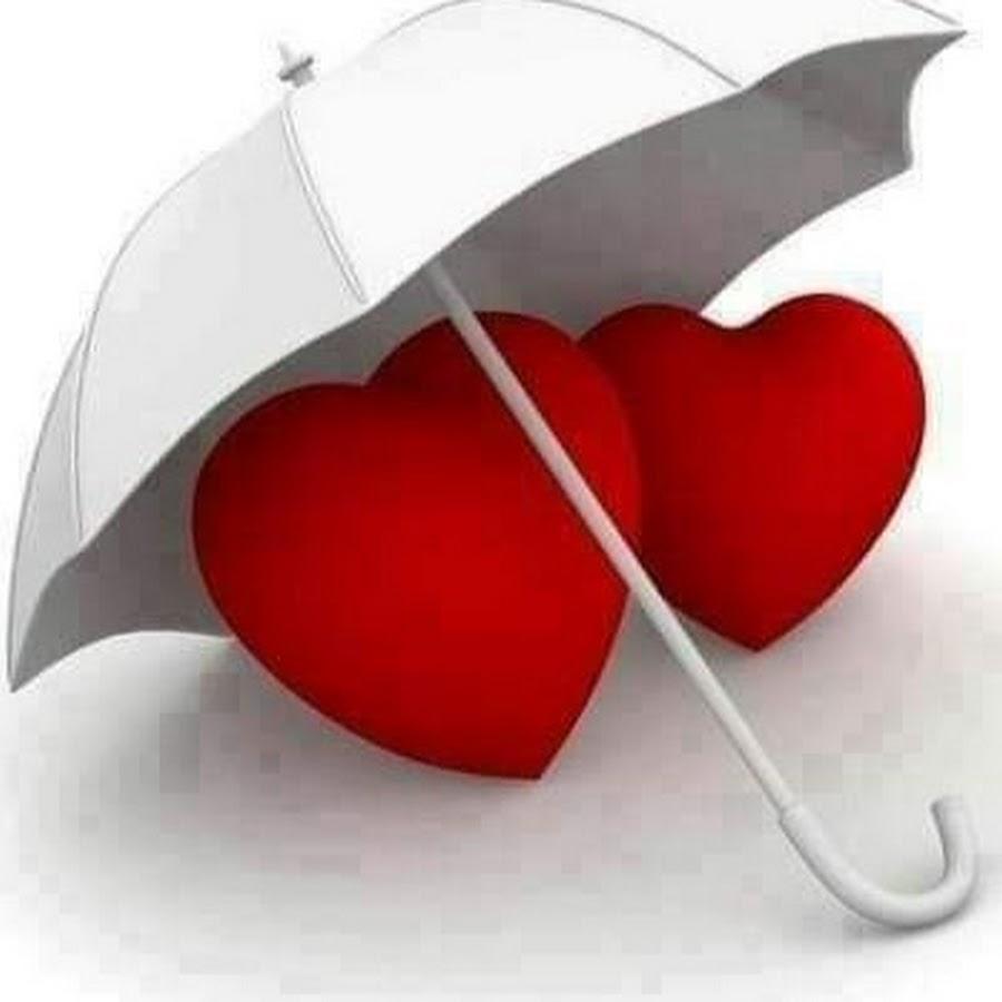 Картинка два сердечка под зонтиком