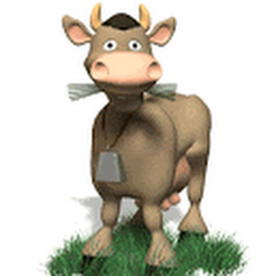 Открытка месяца, корова в картинках анимация