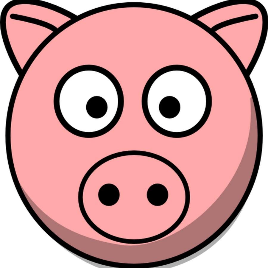 Днем, морда свиньи рисунок