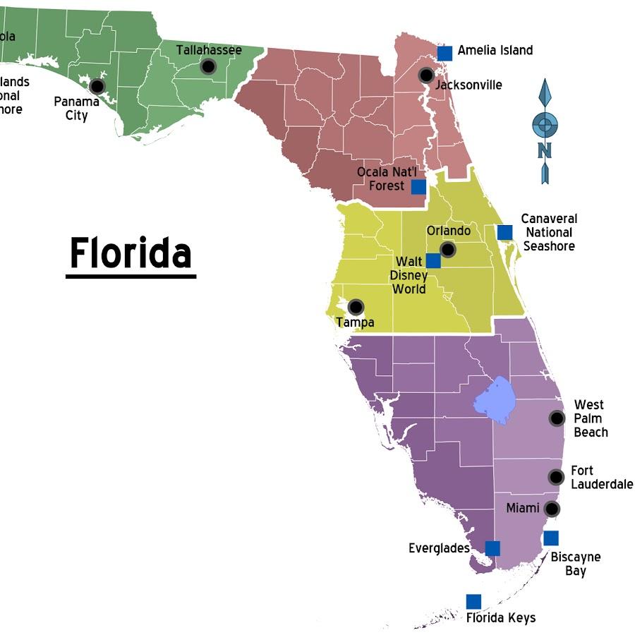 Картинки флорида на карте