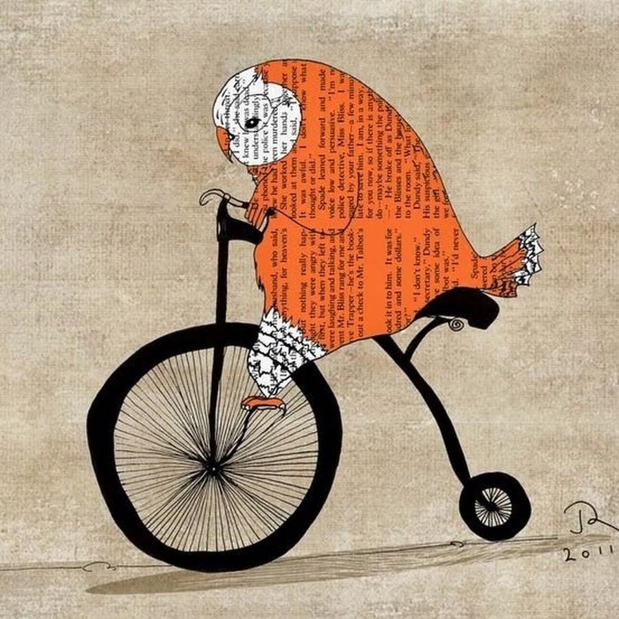 Прикольные рисунки велосипедов, картинки