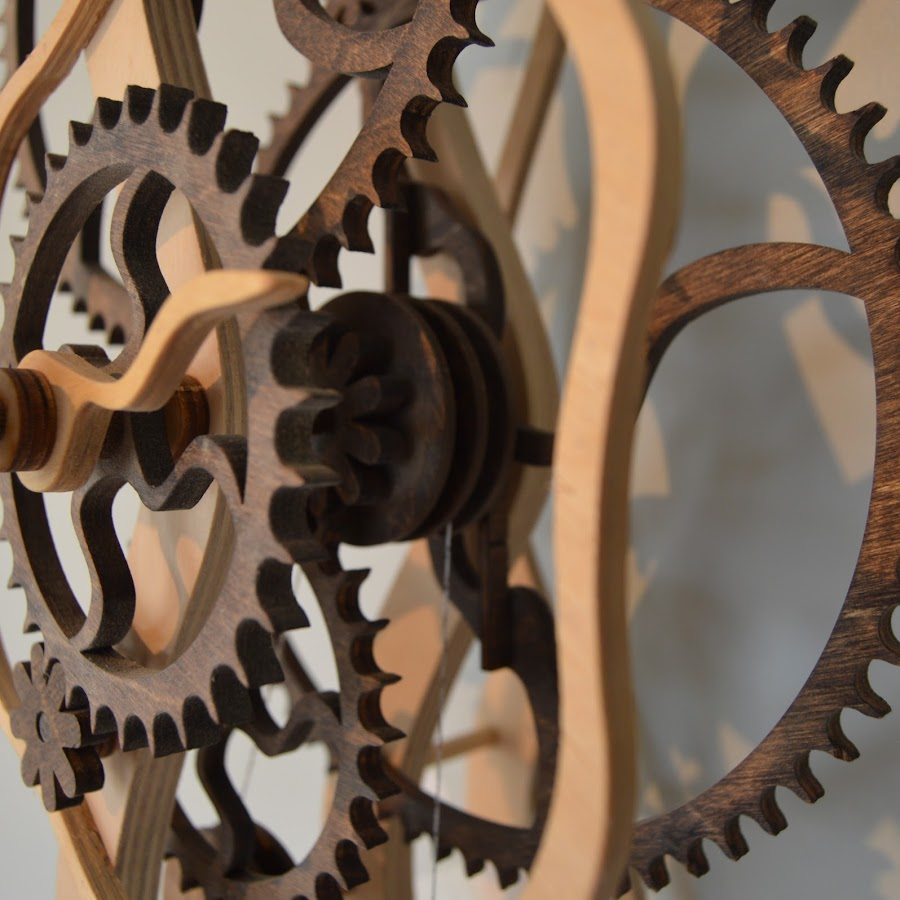 Wooden Gear Clockscom Youtube