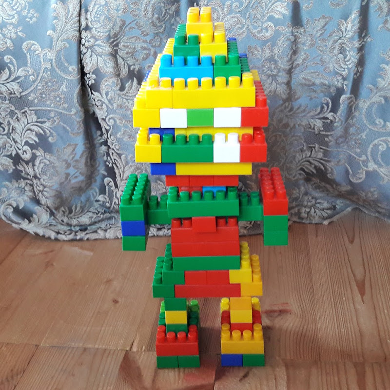 Картинки как сделать робота из кубиков