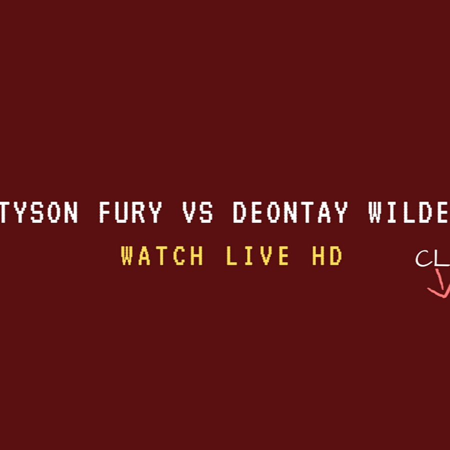 Tyson Fury vs Deontay Wilder Live Stream Online HD - YouTube