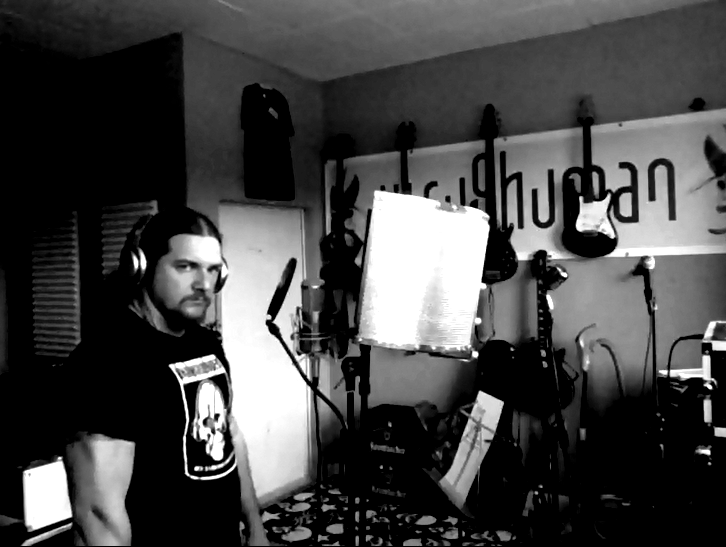 Marek becomes focused for Vocal Session